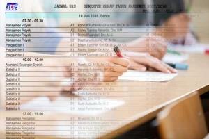Jadwal Ujian Akhir Semester Genap TA 2017/2018