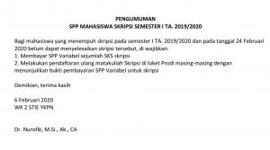 SPP Mahasiswa Skripsi
