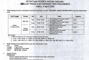 Informasi Wisuda dan Ketentuan Wisuda 04 April 2020