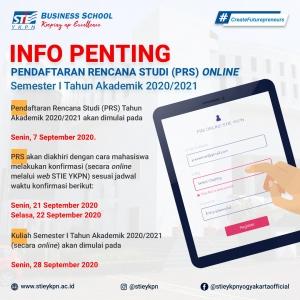 Pendaftaran Rencana Studi (PRS) Online TA 2020/2021