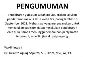Pengumuman Pendaftaran Yudisium
