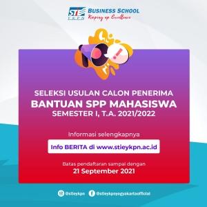 Bantuan SPP Kemendikbud Semester I, T.A. 2021/2022
